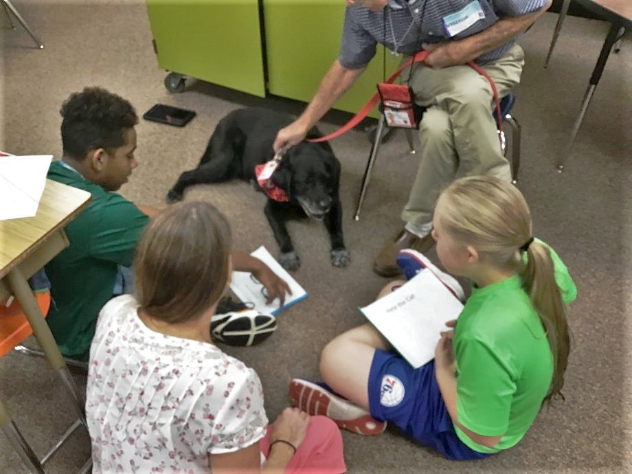 Reading to a Therapy Dog